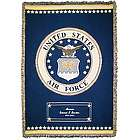 Personalized Air Force Cotton Throw Blanket