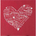 Personalized Heart of Love Name Canvas Print