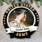 Personalized US Army Photo Frame Ornament