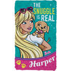 Barbie with Puppy The Snuggle Is Real Fuzzy Blanket