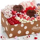 Valentine's Day Candy Gift Box with Personalized Ribbon