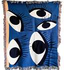 Old Blue Eyes Woven Throw Blanket