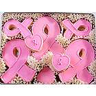 Breast Cancer Awareness Hand Decorated Pink Ribbon Cookies