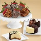 Dipped Cheesecake Trio and Half Dozen Premium Strawberries