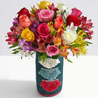 Deluxe Mom's Smiles & Sunshine Bouquet in All Across Africa Vase