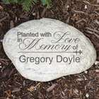 Personalized Planted with Love Memorial Garden Stone