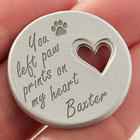 Pet Memorial Personalized Heart Pocket Token