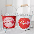 Personalized Hugs and Kisses Mini Treat Bucket