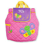 Monogrammed Quilted Butterfly Backpack