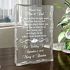 Personalized Thank You on My Special Day Plaque