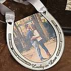 Lucky in Love Horseshoe Picture Frame