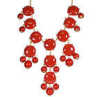 Red Bubble Bib Statement Necklace