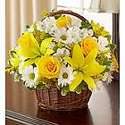 Peace, Prayers and Blessings Sympathy Bouquet in Willow Basket