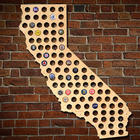 Giant Extra Large California Beer Cap Map