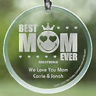 Personalized Mother's Suncatchers - Smiley Face Best Mom Ever