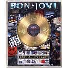 Bon Jovi 25th Anniversary Framed Gold Record Collectible