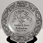 Personalized Anniversary Pewter Plate