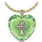 Emerald Isle Blessings Irish Celtic Cross Pendant Necklace