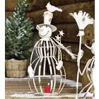 Small Iron Snowman Holiday Accent