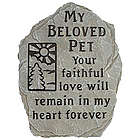 Beloved Pet Memorial Garden Stepping Stone