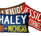 Custom High School To College Pillow