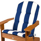 Adirondack Chair Cushion with Blue and White Stripes