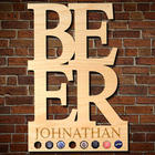 Personalized Beer Birch Wood Bar Sign