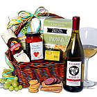 Chardonnay and Gourmet Snacks Gift Basket