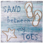 Sand Between My Toes Wall Plaque in Blue