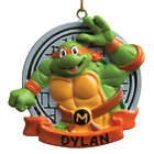 Personalized Teenage Mutant Ninja Turtle Michelangelo Ornament