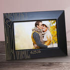 Engraved Couple's Tree Carving Black Frame