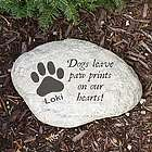 Personalized Dog Memorial Garden Stone