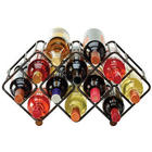 Stackable 12-Bottle Wine Rack in Black