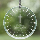 Personalized God Bless Cross Suncatcher