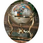 "Mother of Pearl 9"" Diameter Gem Globe"