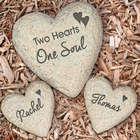 Engraved Couples Heart Garden Stone Set