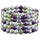 5-Row Honora Grapevine Pearl Stretch Bracelet