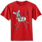 Personalized Short Sleeved Zebra Design T-Shirt