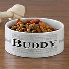 Large Personalized Dog Bowl