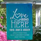 Love Grows Here Personalized Garden Flag