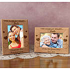 Personalized You Make My Heart Smile Wooden Picture Frame