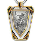Chuck Ren Deliverance Stainless Steel Sculptural Dog Tag