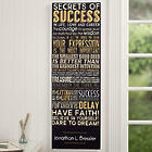 Personalized Secrets of Success Art Print for Office
