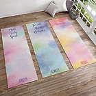 Personalized Watercolor Yoga Mat