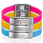 Rubber Bracelet with Personalized Metal Buckle
