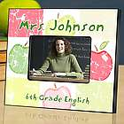Personalized Teacher Apple Patch Picture Frame