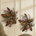 Metal Wall Flower Sculpture