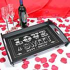 Personalized Couple's Love is Sweet Serving Tray