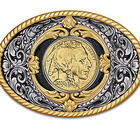 American Gold Buffalo Belt Buckle