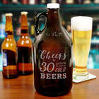Personalized Cheers to Birthday Beer Growler